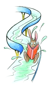 Rabbit on waterslide picture
