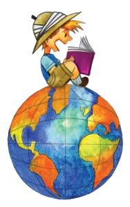Boy-on-globe image