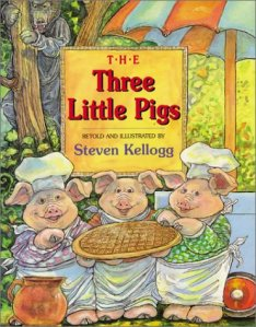 Three Little Pigs by Stephen Kellogg cover