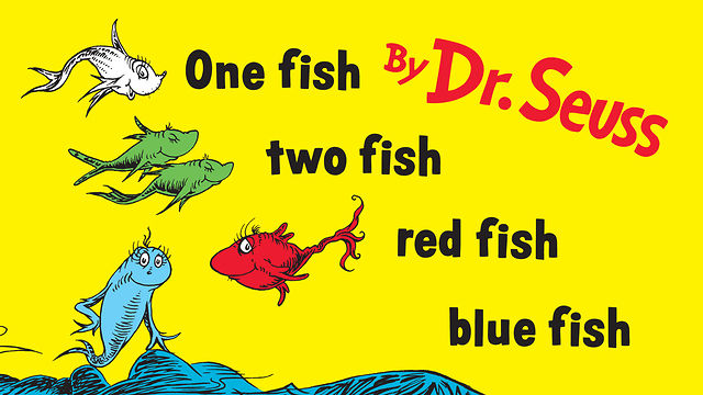 Check Out This Week S Storytime Books Aston Public Library One Fish Two Fish Fish Blue Fish Coloring Pages