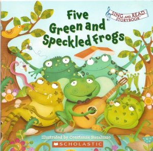 Five Green and Speckled Frogs by Constanza Basaluzzo