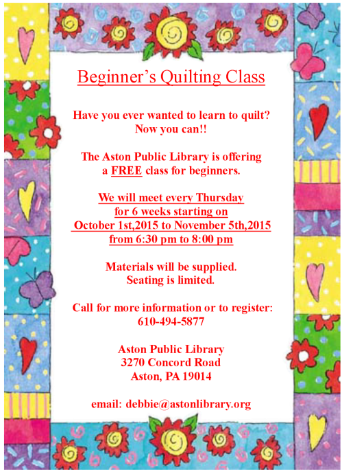 quilting flyer 2015